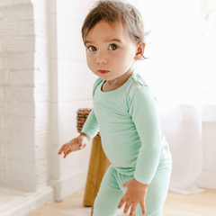 Long Sleeve Pajama Set in - Aloe, It's Me - Project Nursery