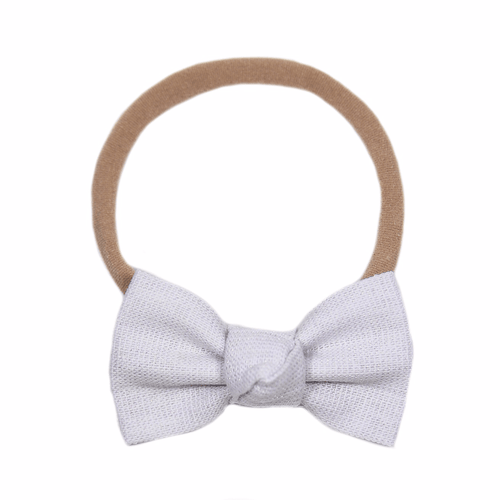White Linen Metallic Petite Headband - Project Nursery