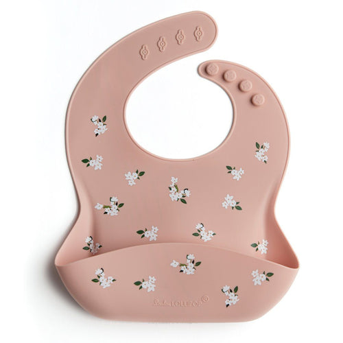 White Flower Silicone Bib - Project Nursery