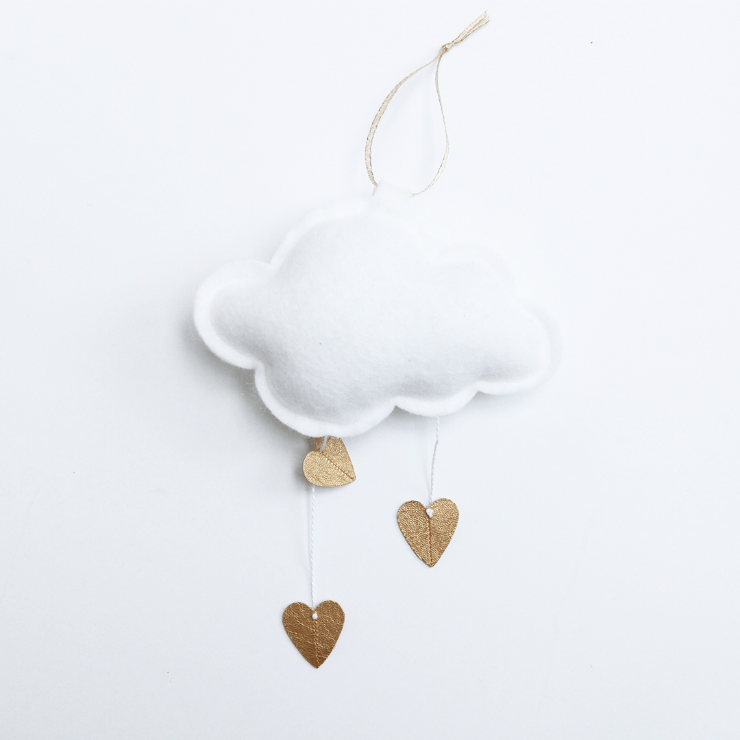 Mini Heart Cloud - White