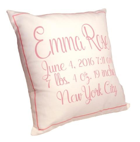 Birth Announcement Pillow  - The Project Nursery Shop - 5