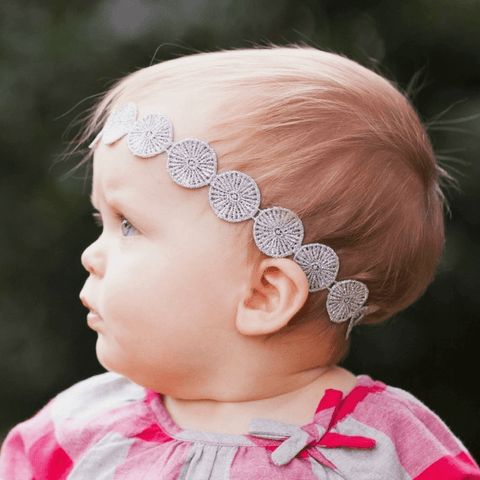 Stonewash Denim Patterned Knot Headband
