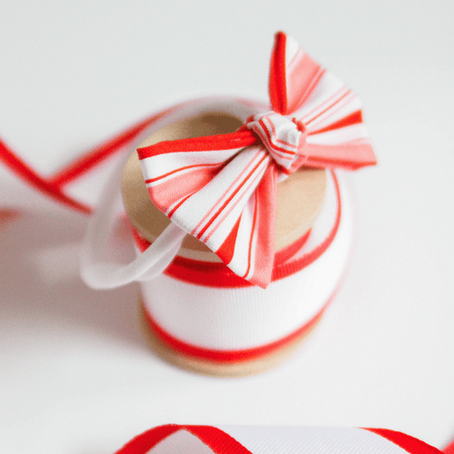 Candy Cane Striped Bow Headband - Project Nursery