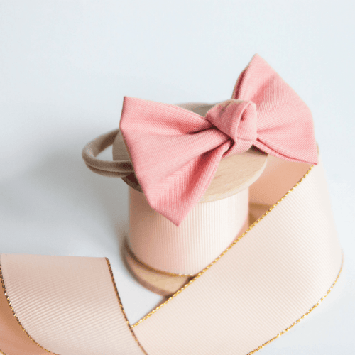 Signature Blush Bow Headband - Project Nursery