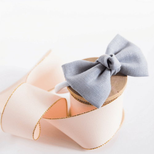 Signature Gray Bow Headband - Project Nursery