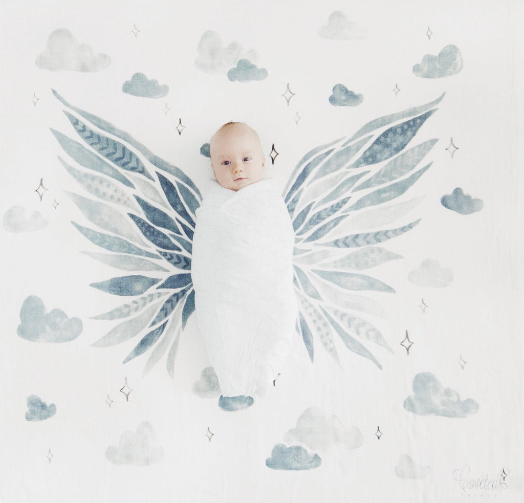 Wings Organic Swaddle Scarf  - The Project Nursery Shop - 2