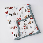 Winter Village Deluxe Muslin Quilt - Project Nursery