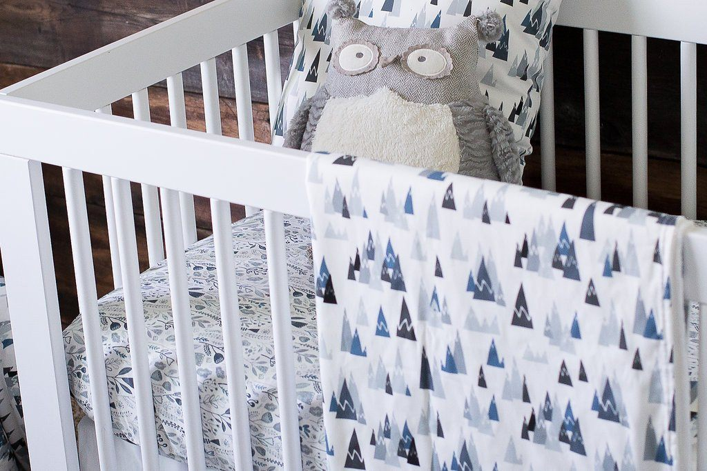 Blue Woodland Crib Sheet