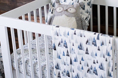 Blue Woodland Crib Sheet - Project Nursery
