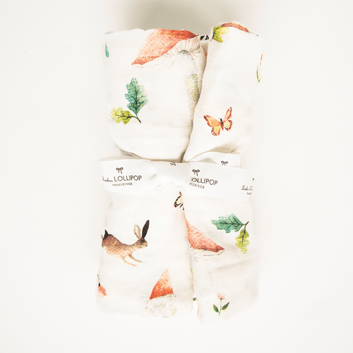 Woodland Gnome Bamboo Swaddle Blanket - Project Nursery