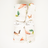 Woodland Gnome Bamboo Swaddle Blanket