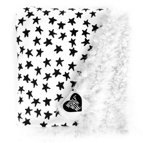 Hippy Stars Knit Baby Blanket