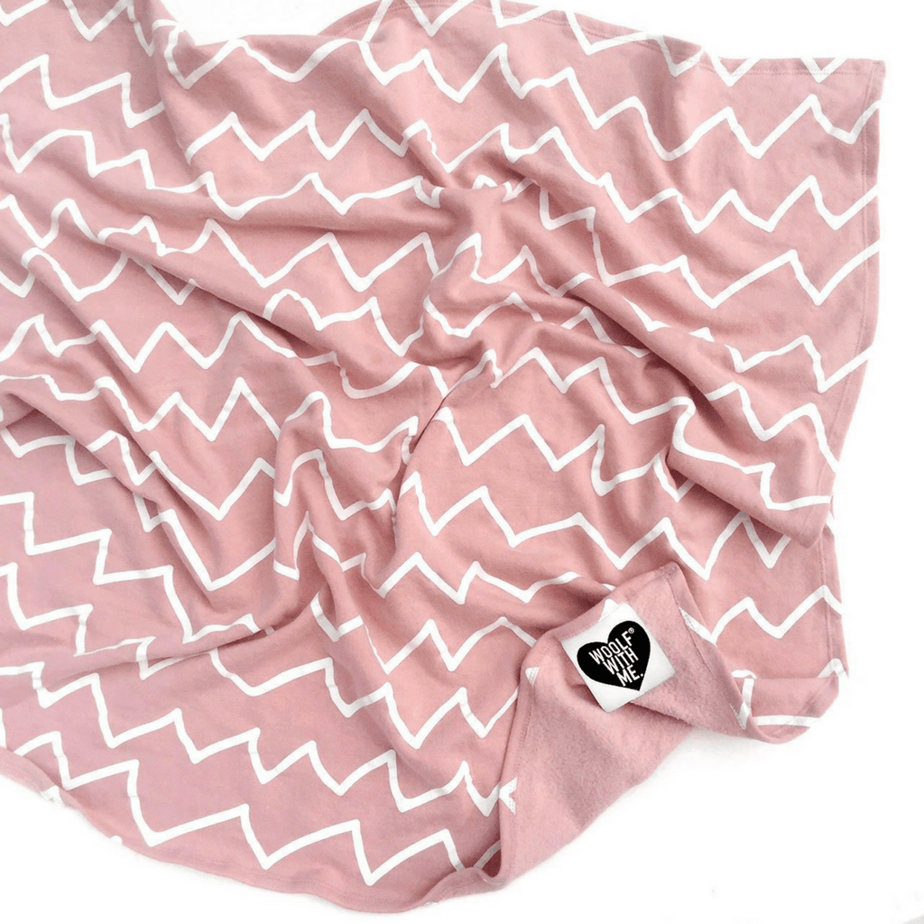Organic Fleece Zig Zag Blanket - Project Nursery
