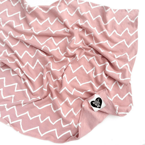 Pink Mountains Crib Blanket
