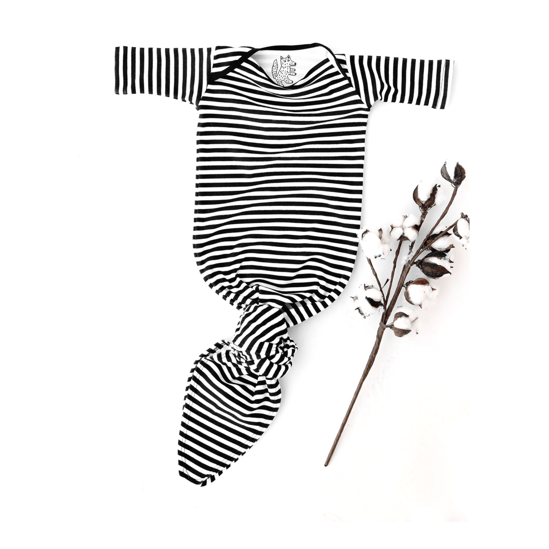 Organic Knotted Stripe Gown - Project Nursery