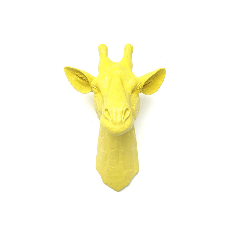 Giraffe Wall Sculpture in Yellow - Project Nursery