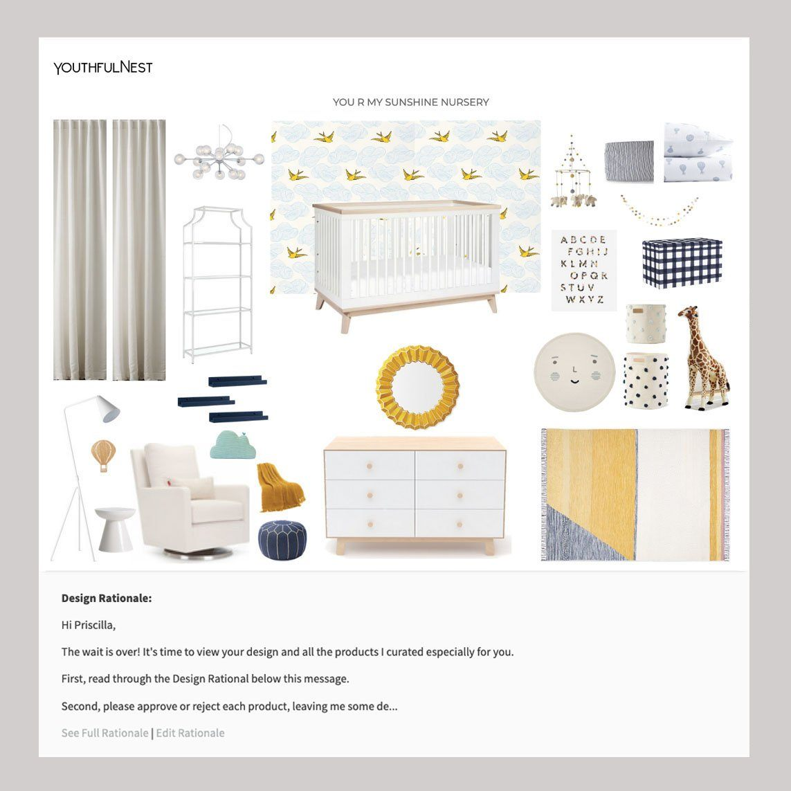 YouthfulNest Mini e-Design Package - Project Nursery