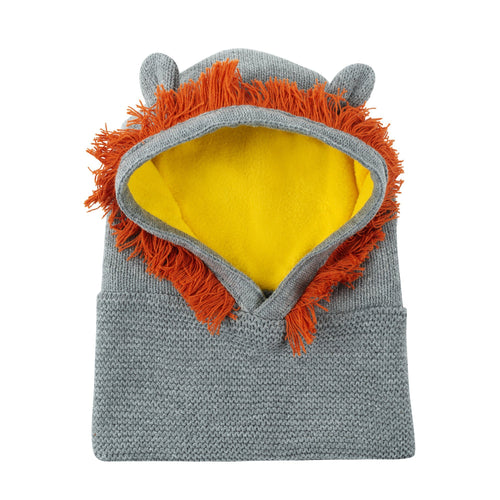 Leo the Lion Knit Balaclava Hat - Project Nursery