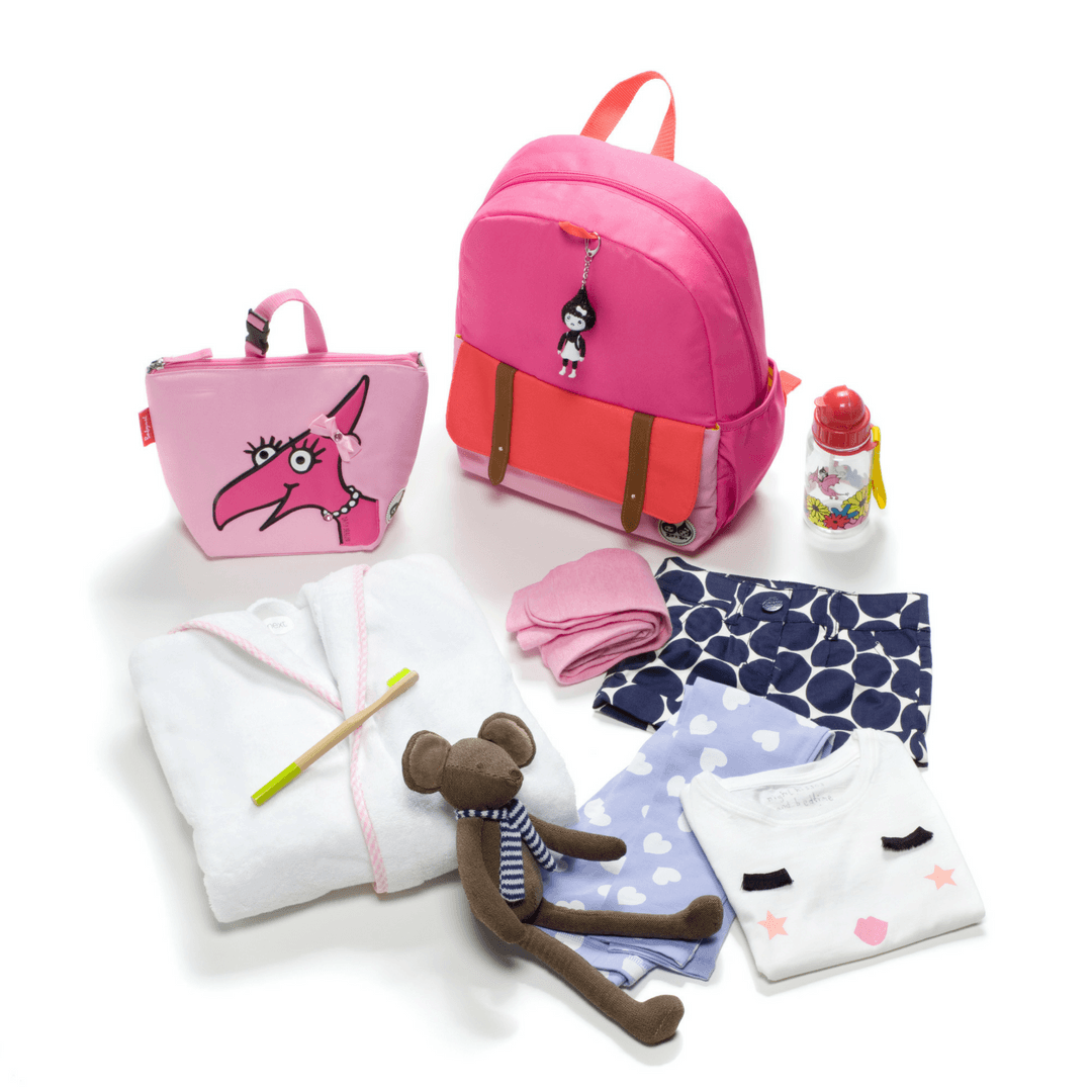 Junior Kid's Backpack - Hot Pink Color Block - Project Nursery