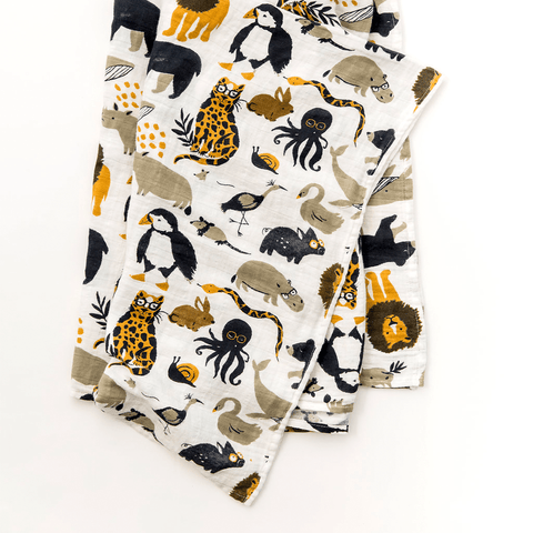 Organic Cotton Jersey Photo Swaddle Blanket