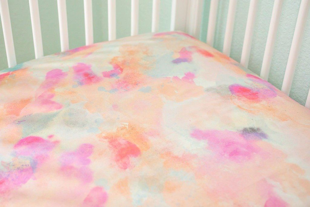 Watercolor Dreams Crib Sheet - Project Nursery