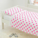 Toddler Bed in a Bag in Pink Fluro Stars  - The Project Nursery Shop - 1