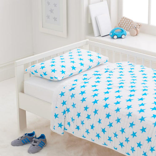 Toddler Bed in a Bag in Blue Fluro Stars - Project Nursery