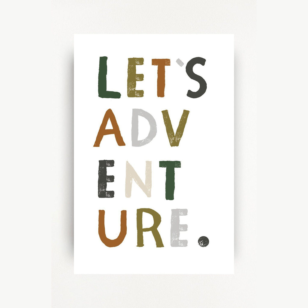 Let's Adventure Art Print - Project Nursery