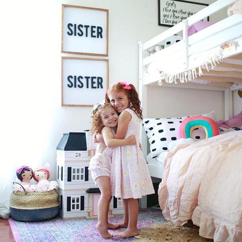 Sister, Sister Wooden Sign Set - Project Nursery