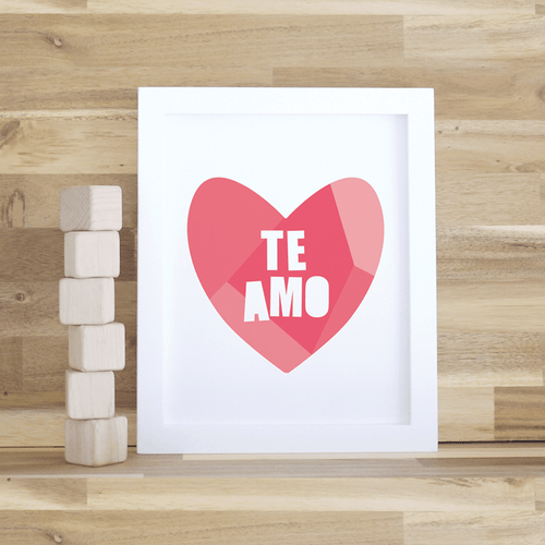Te Amo Print - Project Nursery