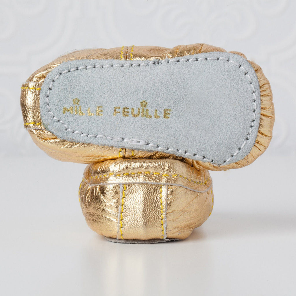 Gold Baby Ballet Slippers  - The Project Nursery Shop - 2