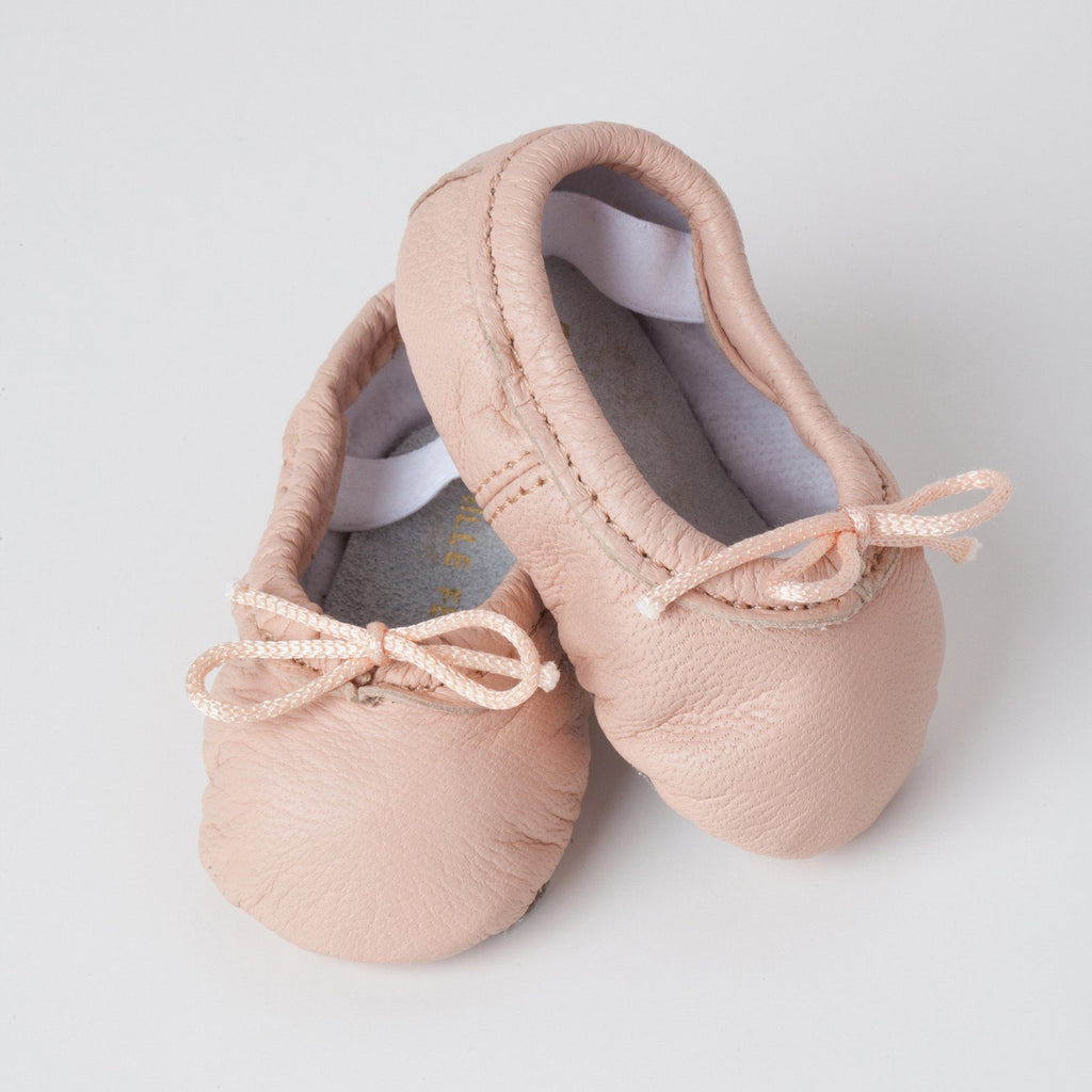 Pink Baby Ballet Slippers Small (3-6 months) - The Project Nursery Shop - 1