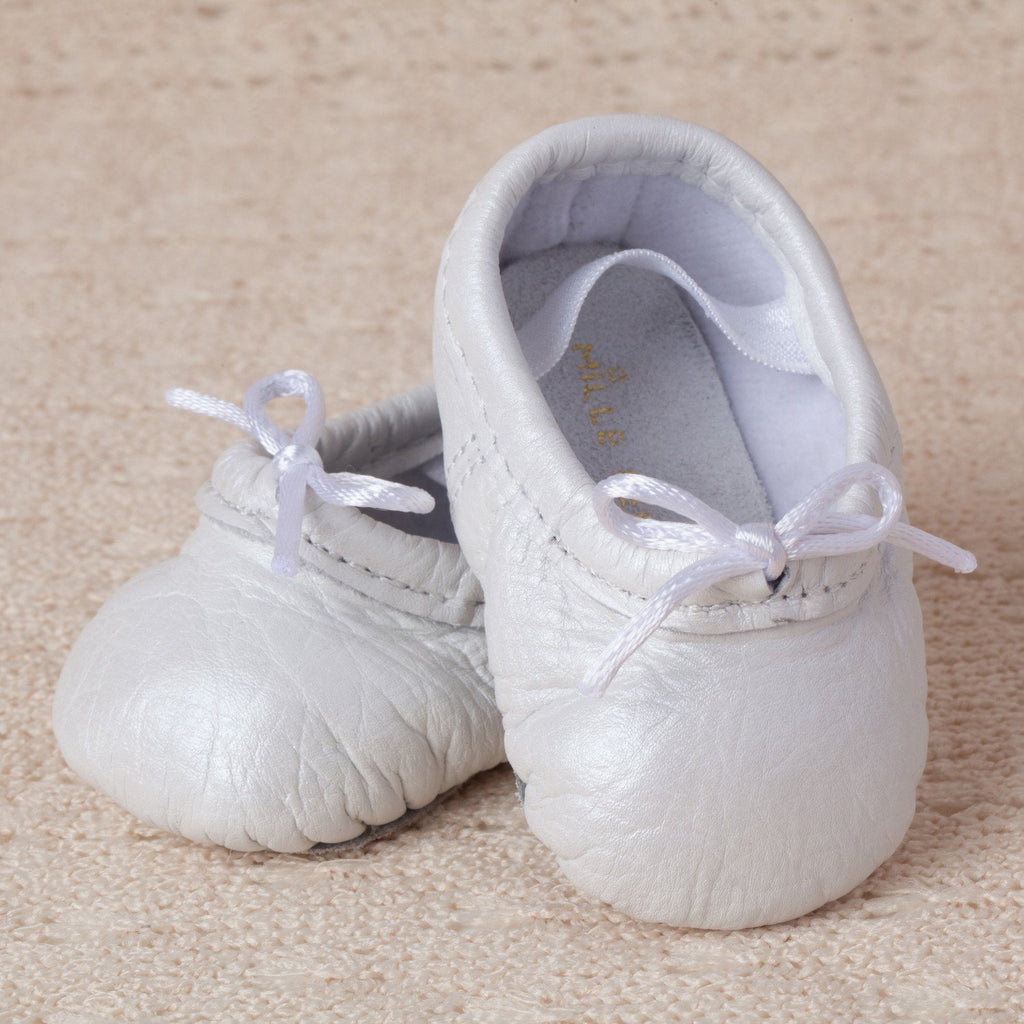 Pearl Baby Ballet Slippers Small (3-6 months) - The Project Nursery Shop - 1