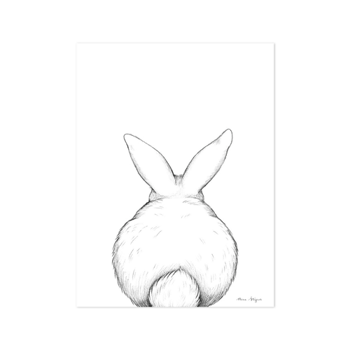 Baby Bunny Tail Wall Print - Project Nursery
