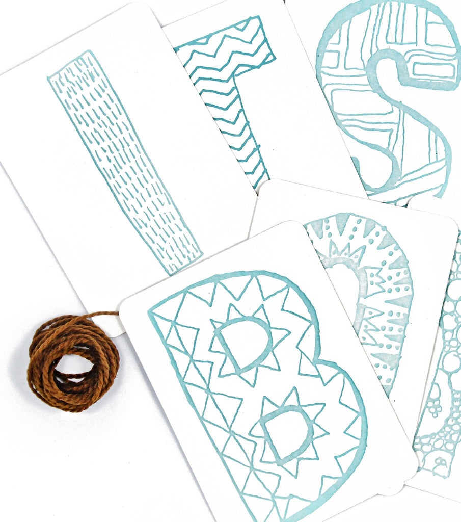 It's a Boy Letterpress DIY Banner Kit  - The Project Nursery Shop - 2
