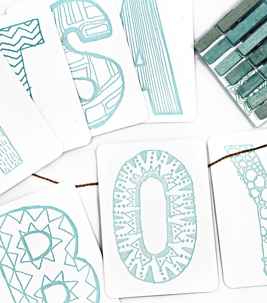 It's a Boy Letterpress DIY Banner Kit  - The Project Nursery Shop - 4