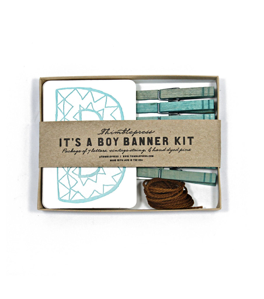 It's a Boy Letterpress DIY Banner Kit  - The Project Nursery Shop - 5
