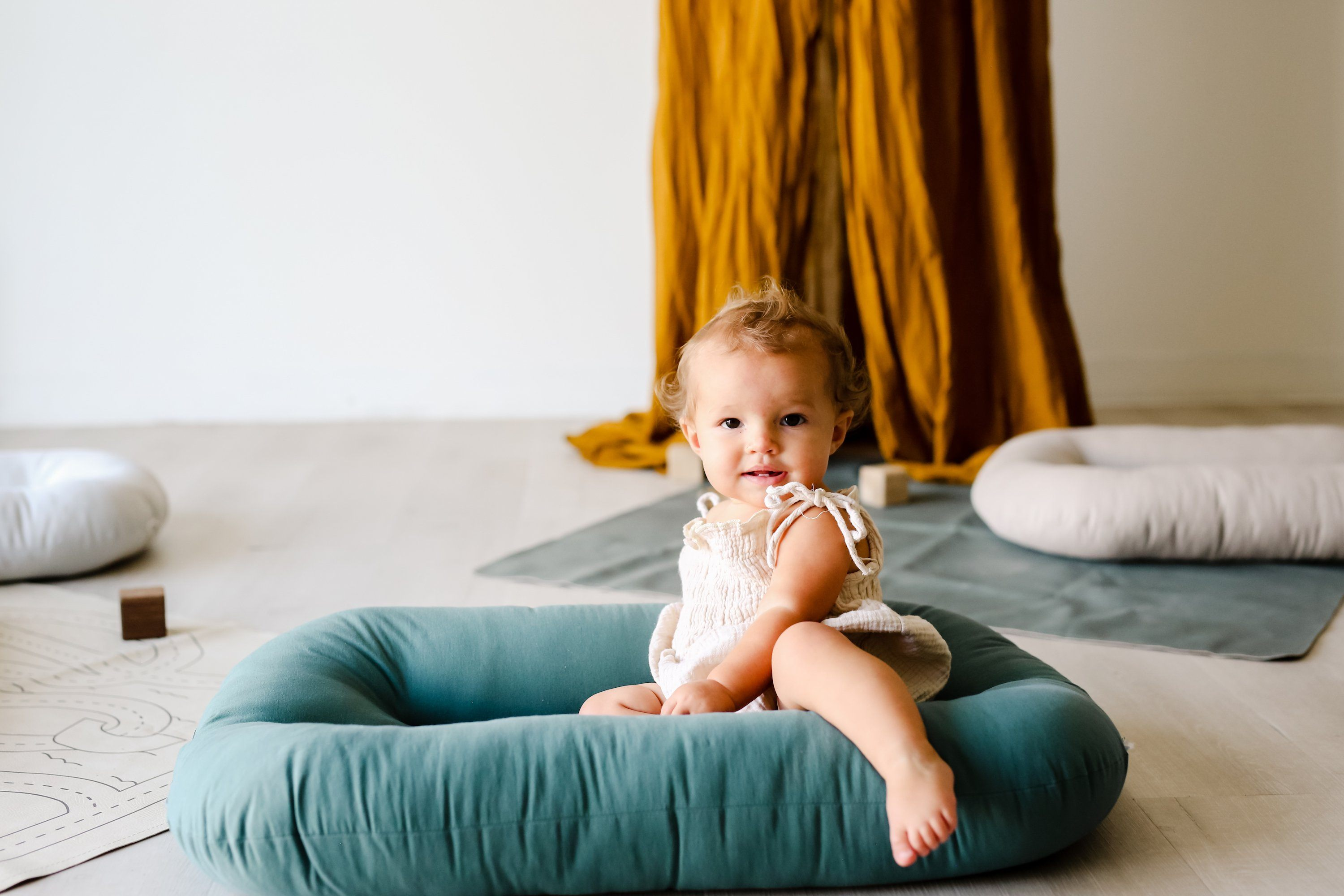 Snuggle Me Organic Bare Lounger - Moss - Project Nursery