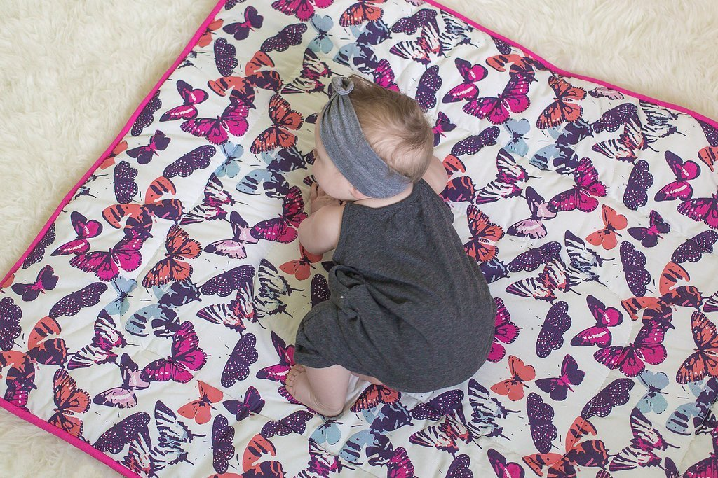 Butterfly Kisses Crib Comforter - Project Nursery