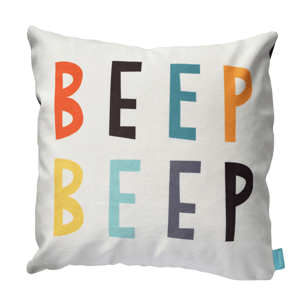Beep Beep Pillow Cover  - The Project Nursery Shop - 1