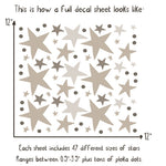 Neutral Stars Wall Stickers - Project Nursery