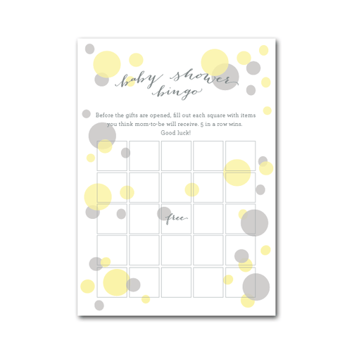 Baby Shower Bingo in Ready to Pop - Project Nursery