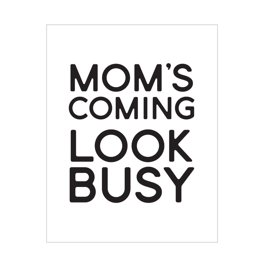 Look Busy Peel & Stick Poster Black - The Project Nursery Shop - 1