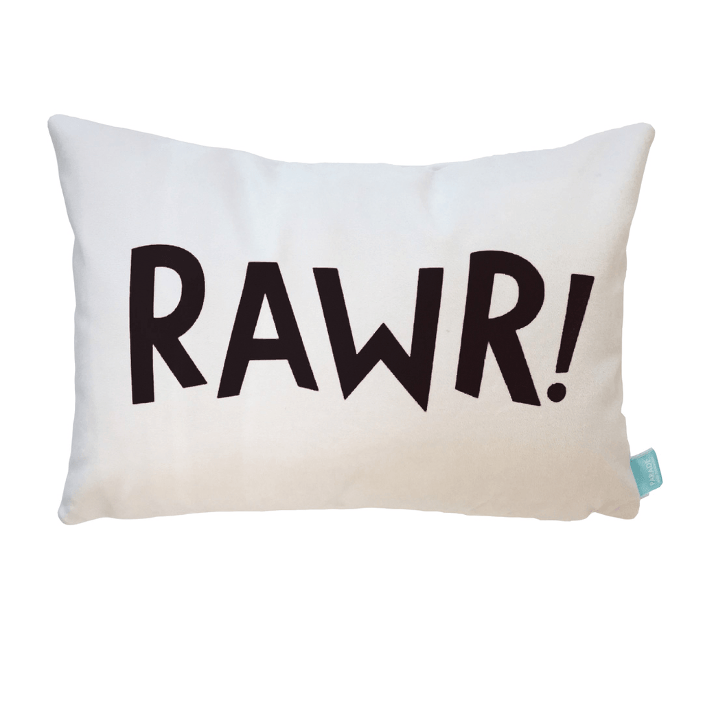 Dinosaur RAWR! Pillow Cover Black - The Project Nursery Shop - 1