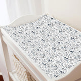 Blue Woodland Changing Pad Cover