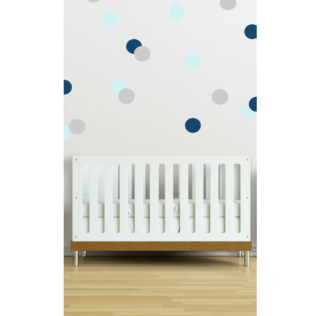 Confetti Wall Decals in Blue - Project Nursery