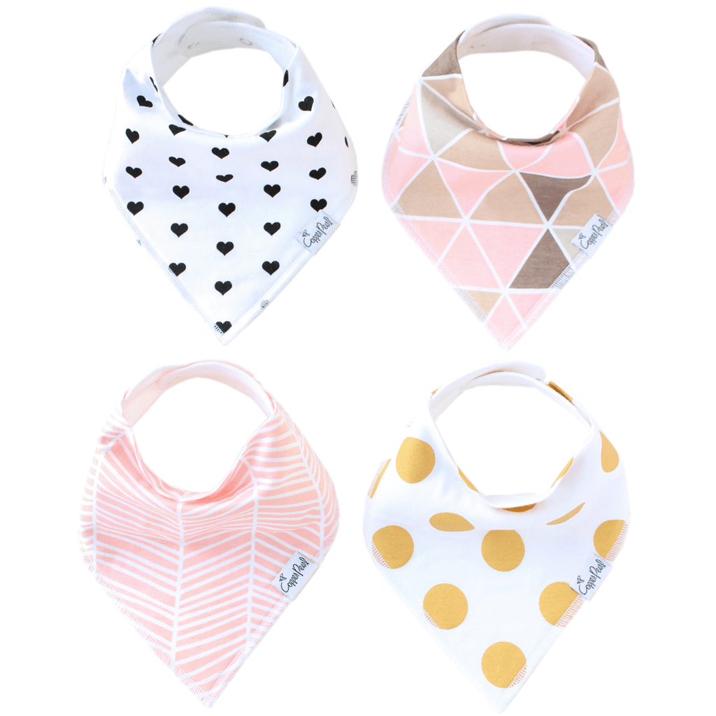 Bandana Bibs in Blush Set  - The Project Nursery Shop - 1