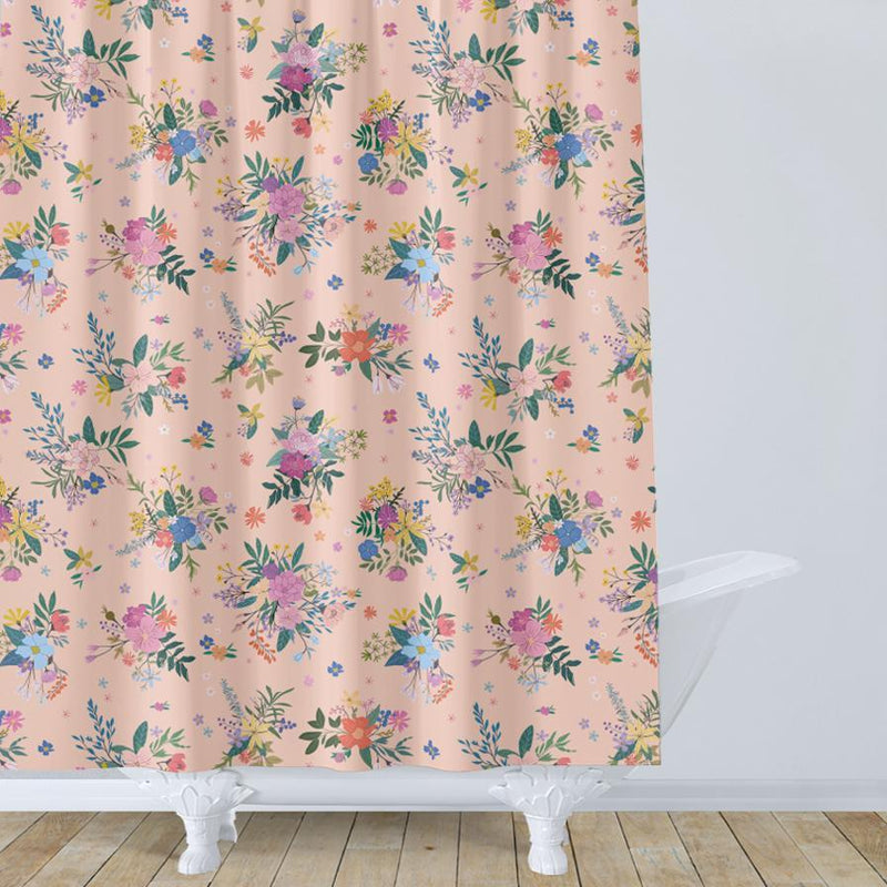 Boho Floral Kids Shower Curtain - Project Nursery