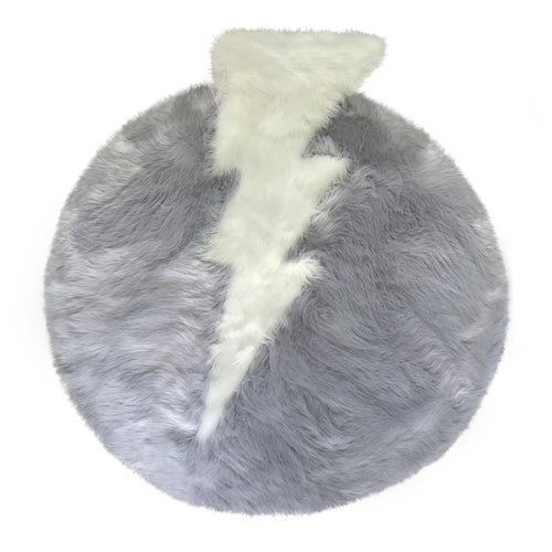 Faux Sheepskin Thunderbolt Area Rug - Project Nursery