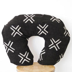 Mud Cloth Nursing Pillow Cover - Black + White X - Project Nursery